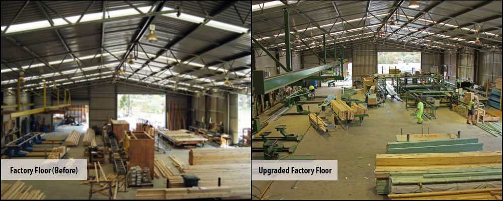 Upgraded factory floor under new management